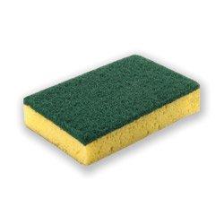 Esponja con fibra verde