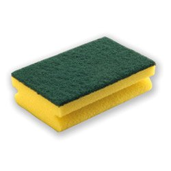 Esponja ergonómica con fibra verde