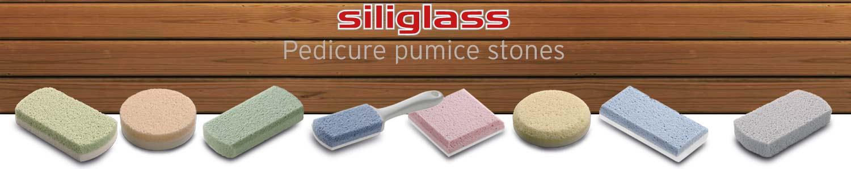 Siliglass pumice stones